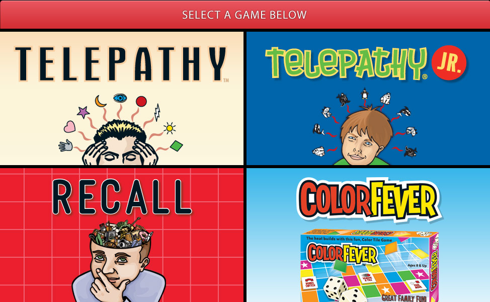 Color Fever, Recall, and Telepathy Game